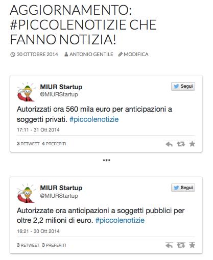 Tweets di @MiurStartUp